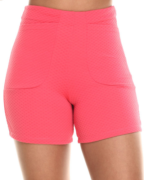 Fashion Lab - Women Coral The Royals High Waisted Short