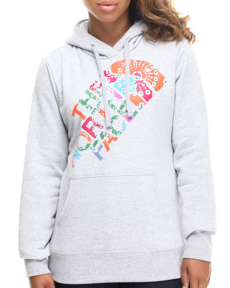 The North Face - Women Grey Abstract Flower Pullover Hoodie