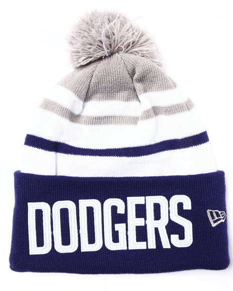 New Era Men Los Angeles Dodgers Felt Stripe Knit Hat Navy - $10.99