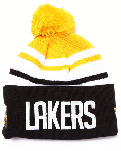 New Era Men Los Angeles Lakers Felt Stripe Knit Hat Multi - $13.99