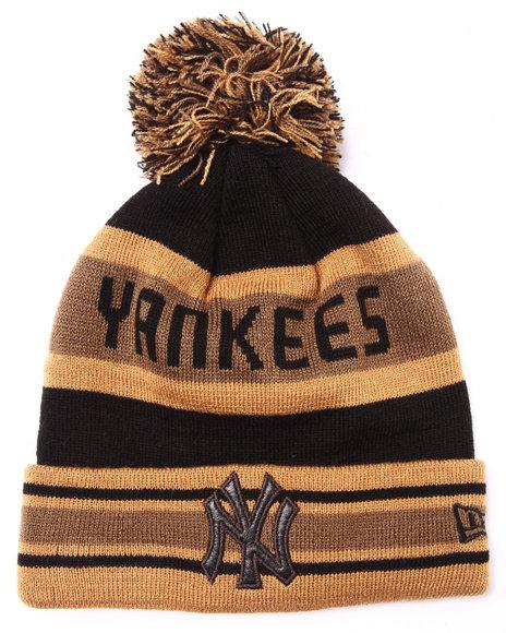 New Era Men New York Yankees Metallic Knit Hat Brown ,