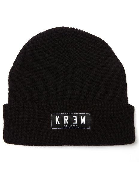 Kr3w Men Cuff Beanie Black