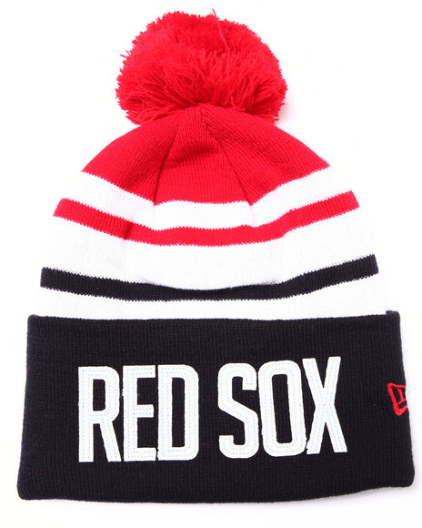 New Era Men Boston Red Sox Felt Stripe Knit Hat Multi