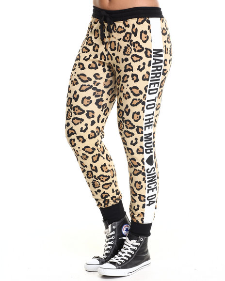 Married To The Mob - Women Animal Print Since '04 Animal Jogger Sweatpant