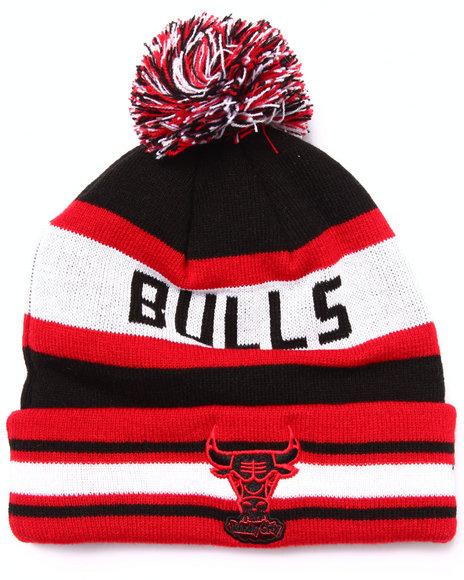 New Era Men Chicago Bulls Fashion Jake Metallic Knit Hat Black