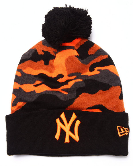 New Era Men New York Yankees Cam Top 2 Hfo Knit Hat Camo
