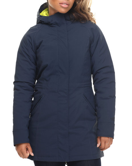 The North Face - Women Navy Split Hem Softshell Jacket