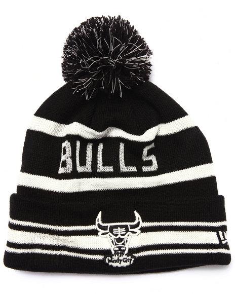 New Era Men Chicago Bulls Fashion Jake Knit Hat (Glow In The Dark) Black
