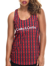Crooks & Castles - Bird Trap Plaid Racerback Tank
