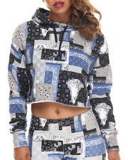 Crooks & Castles - Luxe Bandit Cropped Hoodie
