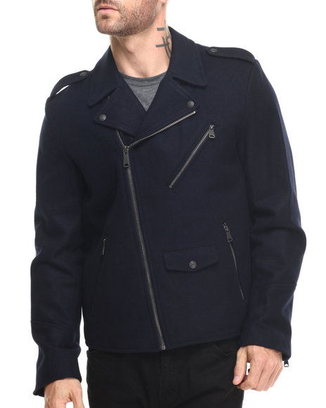 Levi's - Men Navy Devon Biker Jacket