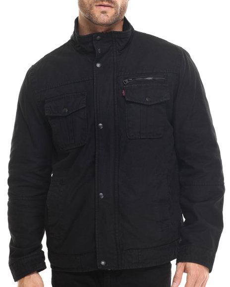 Ur-ID 185871 Levi's - Men Black Armel High Collar Utility Jacket