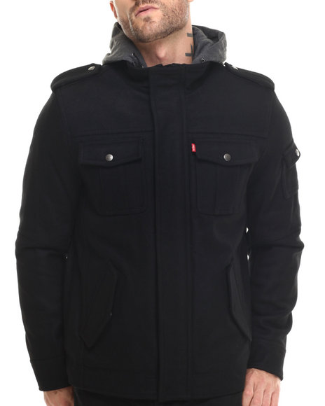 Levi's - Men Black Collin Wool Utility Jacket