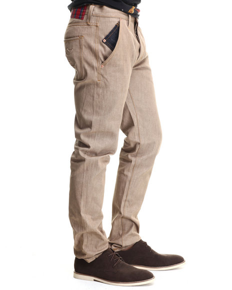 Crooks & Castles - Men Khaki Bird Trap Woven Pant