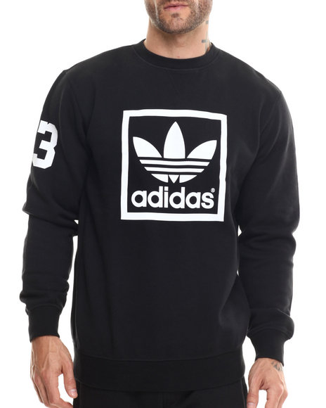Adidas - Men Black 3Foil Crew Sweatshirt - $55.00