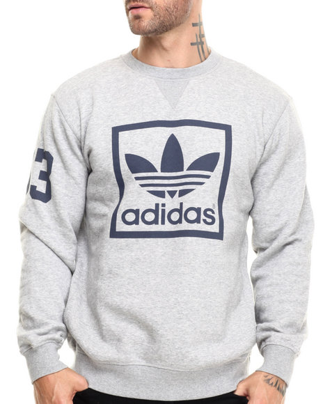 Adidas - Men Grey 3Foil Crew Sweatshirt