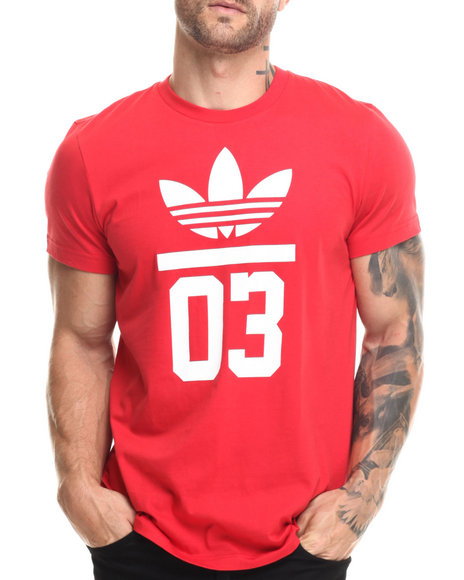 Adidas - Men Red 3Foil Tee - $30.00