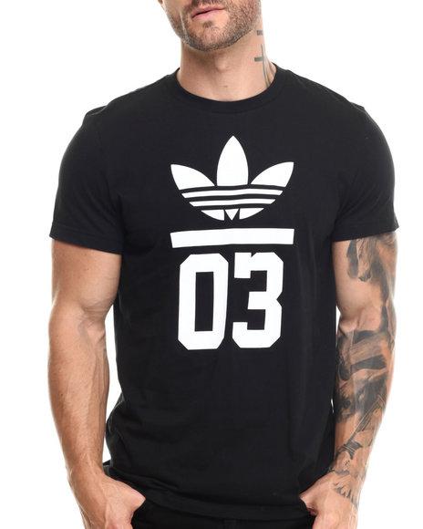 Adidas - Men Black 3Foil Tee