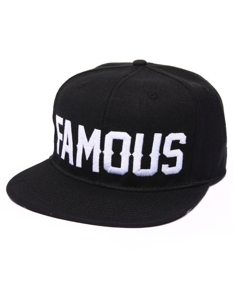Famous Stars & Straps Men Single Alpine Snapback Hat Black