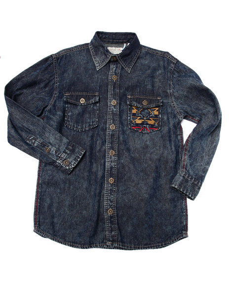 Parish - Boys Dark Wash Denim Shirt (8-20)
