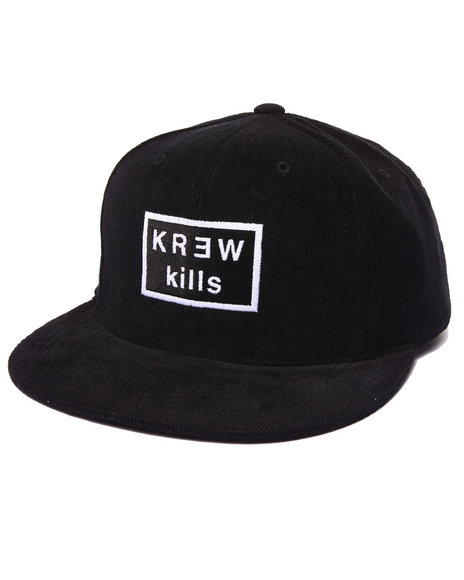 Kr3w Men Kills Cord Snapback Cap Black