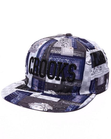 Crooks & Castles Women Luxe Bandit Snapback Hat Multi