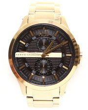 Armani Jeans - A|X Men's Yellow Gold Ion Plated Stainless Steel Bracelet 46mm AX2122