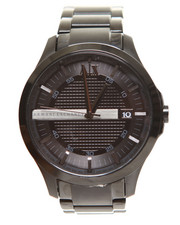 Armani Jeans - A|X Men's Black Ion Plated Stainless Steel Bracelet 46mm AX2104