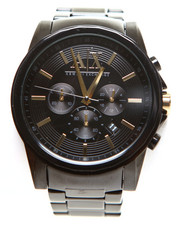 Armani Jeans - A|X Men's Black Ion Plated Stainless Steel Bracelet 45mm AX2094