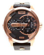 Diesel - Mini Daddy Black Leather Strap 54x46mm Watch DZ7317