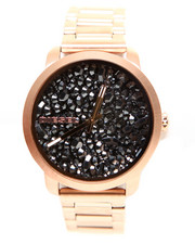 Accessories - FLARE crushed gunmetal-tone stone watch 42mm x  38mm DZ5427