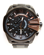 Accessories - MEGA CHIEF Chronograph Mega Chief Black Ion-Plated Stainless Steel Bracelet 59x51mm DZ4309