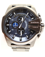 Diesel - Chronograph Mega Chief Gunmetal Ion-Plated Stainless Steel Bracelet Watch 59x51mm DZ4329