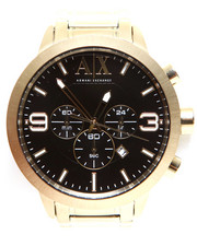 Accessories - A|X Men's Chronograph Gold-Tone Stainless Steel Bracelet Watch 49mm AX1357