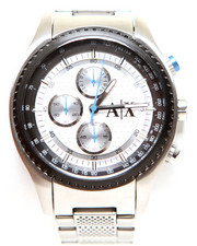 Accessories - A|X Men's Chronograph Stainless Steel Bracelet Watch 45mm AX1602