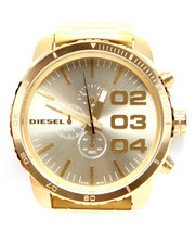 Accessories - DOUBLE DOWN 51 Chronograph Gold-Tone Bracelet Watch DZ4268