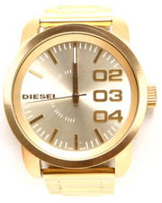 Accessories - DOUBLE DOWN 46 Chronograph Gold-Tone Stainless Steel Bracelet Watch 53.5MM x 46MM