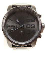 Accessories - DOUBLE DOWN 51 Chronograph Gunmetal Ion Plated Stainless Steel Bracelet 58x52mm DZ4215