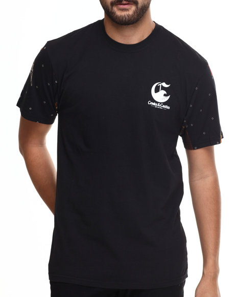 Crooks & Castles - Men Black Tracker T-Shirt