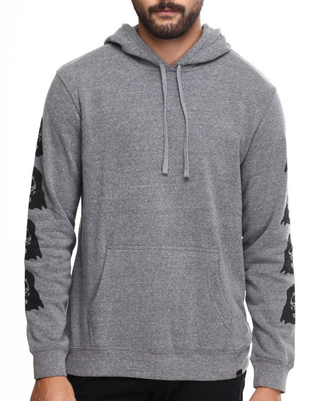 Grey Pullover Hoodies