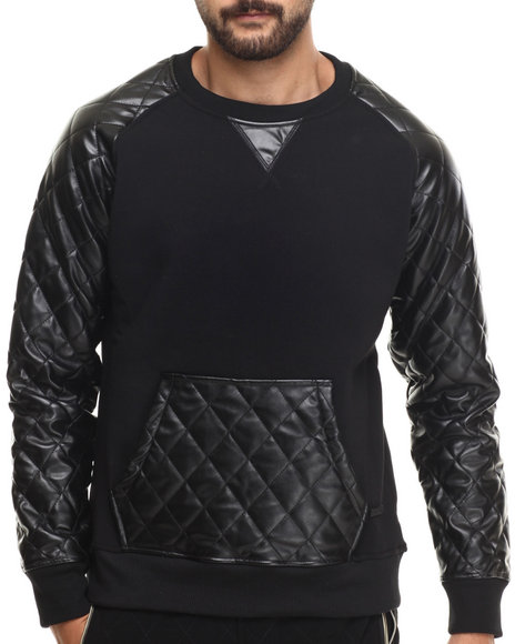 Akademiks - Men Black Melrose Kangaroo Pocket Pullover Sweatshirt