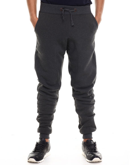 Akademiks - Men Charcoal Bensonhurst Fleece Sweatpant - $15.99