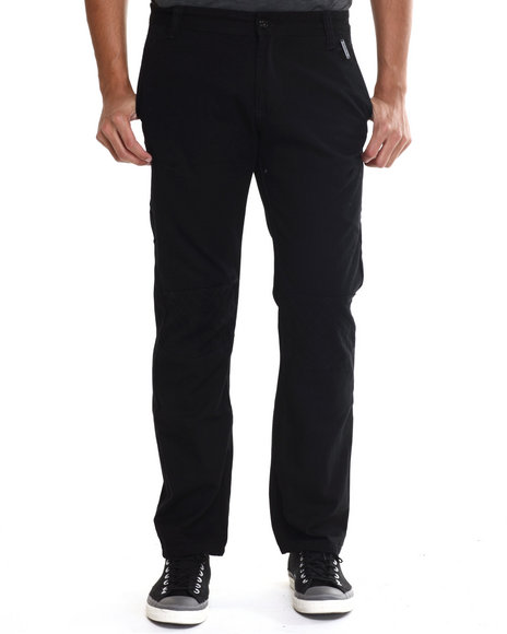 Akademiks - Men Black Harley Quilted Twill Pants