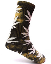 Men - Tie Dye Plantlife Crew Socks