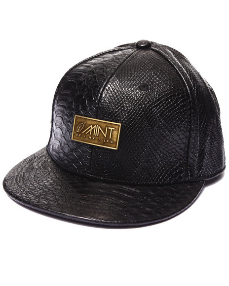 Mint Men Anaconda Strapback Hat Black