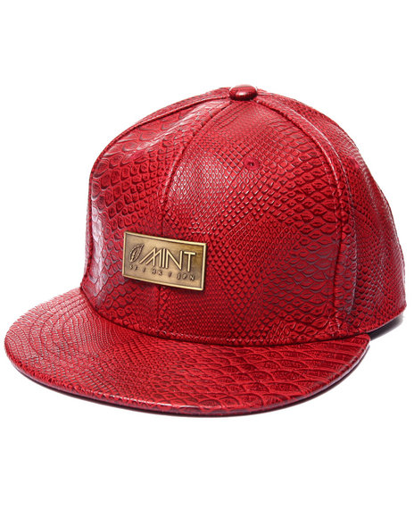 Mint - Men Red Anaconda Strapback Hat