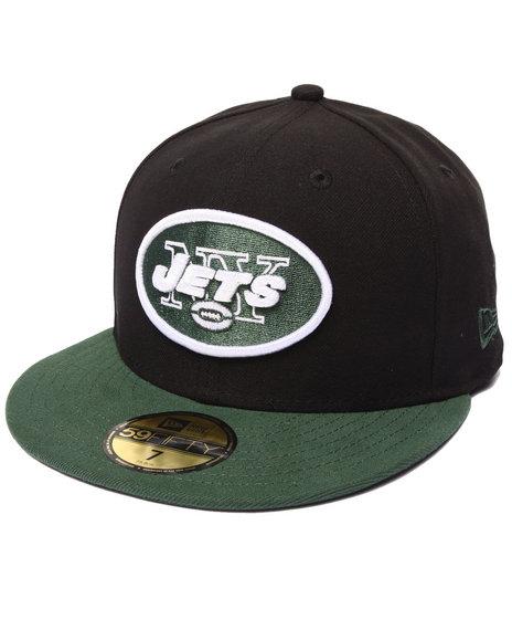 New Era - Men Black New York Jets Nfl League Basic Black 5950 Fitted Hat