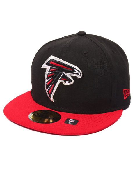 New Era - Men Black Atlanta Falcons Nfl League Basic Black 5950 Fitted Hat