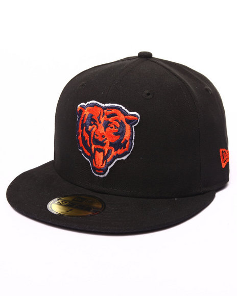 New Era - Men Black Chicago Bears Nfl League Basic Black 5950 Fitted Hat