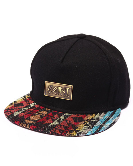 Mint Black Strapback